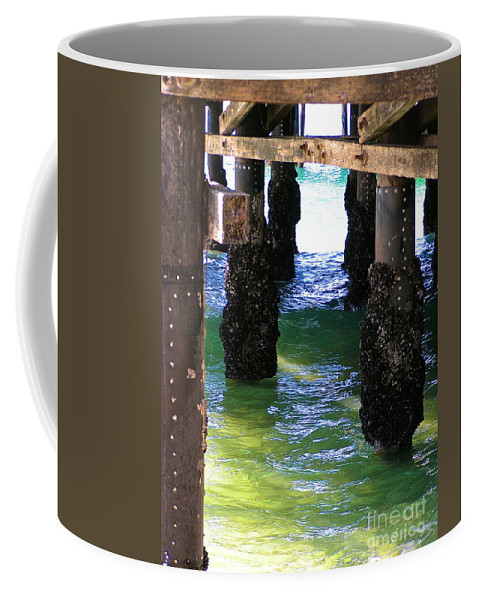 Pier Coffee Mug featuring the photograph Rock Solid by Margie Amberge