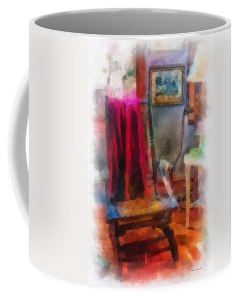 Rocking Coffee Mug featuring the photograph Rocking Chair Photo Art by Thomas Woolworth