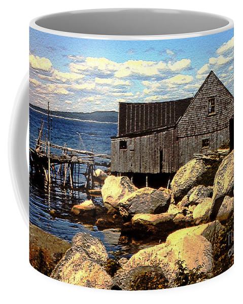 Nova Scotia Coffee Mug featuring the photograph Rocks At Bay In Nova Scotia by Lydia Holly