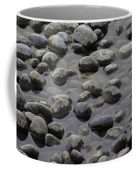 Rocks Coffee Mug featuring the photograph Rocks In Shallow Water by Greg Thiemeyer