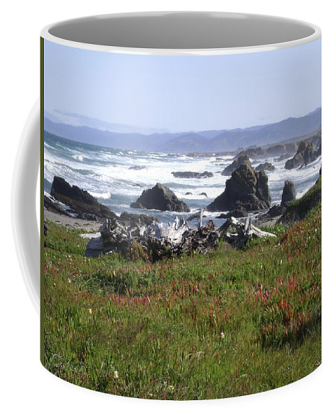 Fort Bragg Coffee Mug featuring the photograph Rocks In The Water by Mike Niday