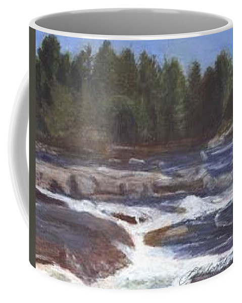 Rocks Coffee Mug featuring the painting Rocks by Sheila Mashaw