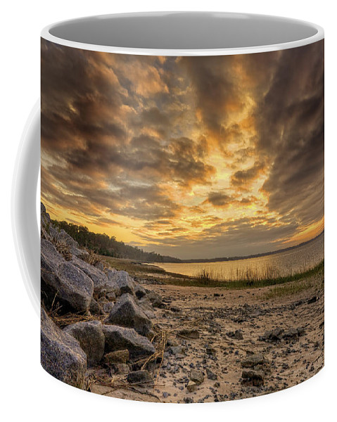 Beach Coffee Mug featuring the photograph Rocky Beach by Phill Doherty