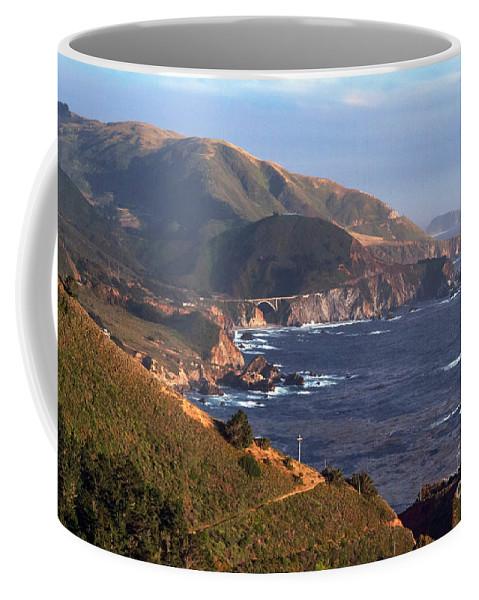 Rocky Creek Bridge Coffee Mug featuring the photograph Rocky Creek Bridge In Big Sur by Charlene Mitchell