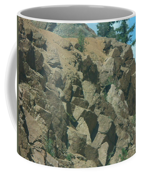 Lyle Coffee Mug featuring the painting Rocky by Lord Frederick Lyle Morris