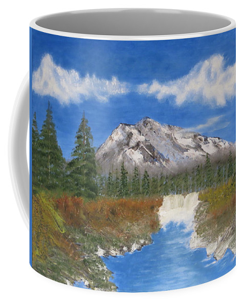 Mountains Coffee Mug featuring the painting Rocky Mountain Creek by Tim Townsend