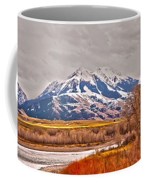 America Coffee Mug featuring the photograph Rocky Mountains In Montana by Alex Grichenko