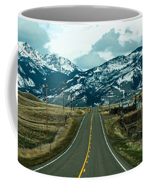 Colors Coffee Mug featuring the photograph Rocky Mountains Road by Alex Grichenko