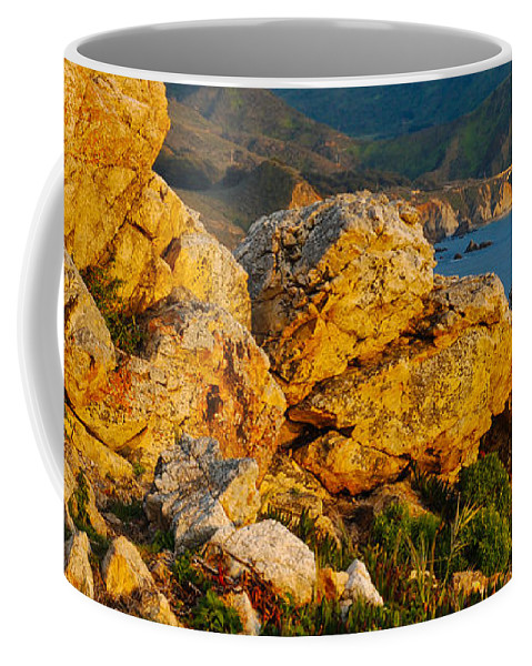 Rocky Point Coffee Mug featuring the photograph Rocky Point And Bixby Bridge Big Sur California by Jeff Black