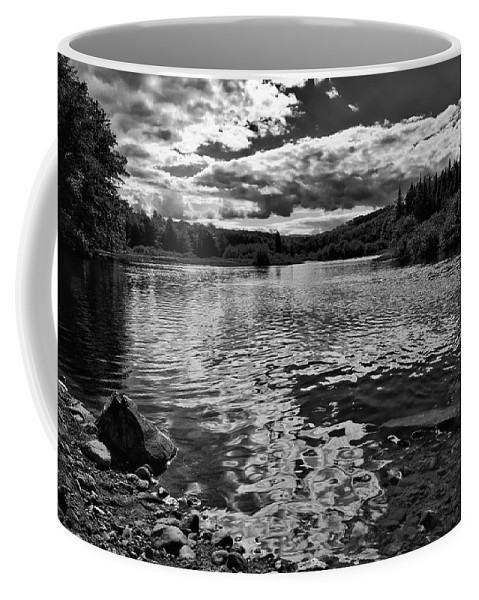 Moose River Coffee Mug featuring the photograph Rocky Shore Of The Moose River by David Patterson