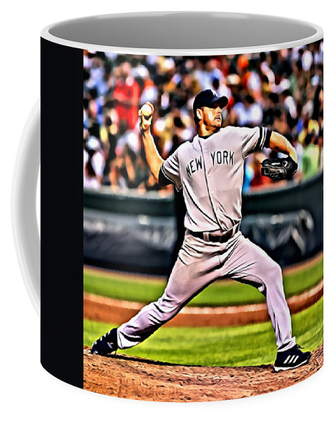 Mlb Coffee Mug featuring the painting Roger Clemens Painting by Florian Rodarte