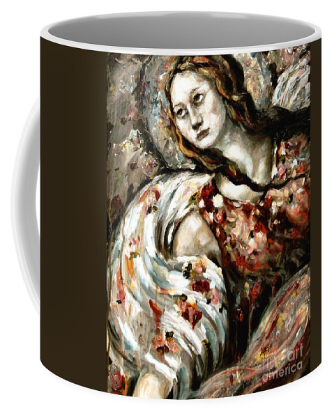 Angel Coffee Mug featuring the painting Roger Over And Out by Carrie Joy Byrnes