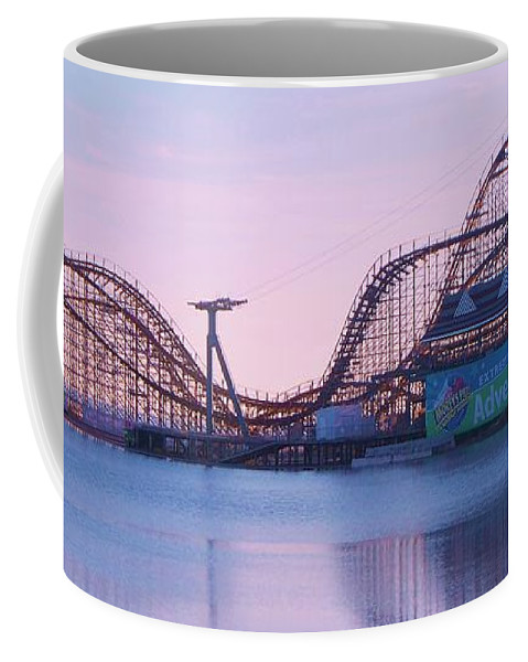 Roller Coaster Coffee Mug featuring the painting Roller Coaster by Eric Schiabor