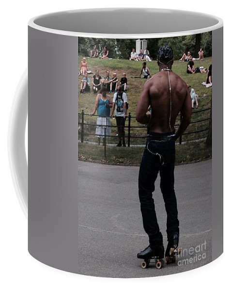 Roller Skating Coffee Mug featuring the photograph Roller Skating In The Park by Christy Gendalia