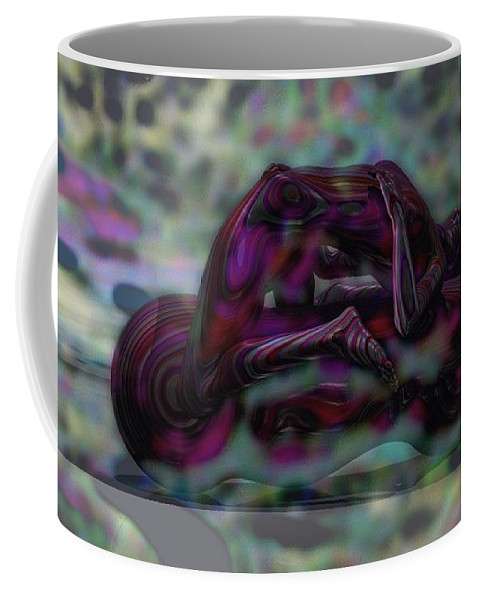 Design Coffee Mug featuring the mixed media Roller_play by Mando Xocco