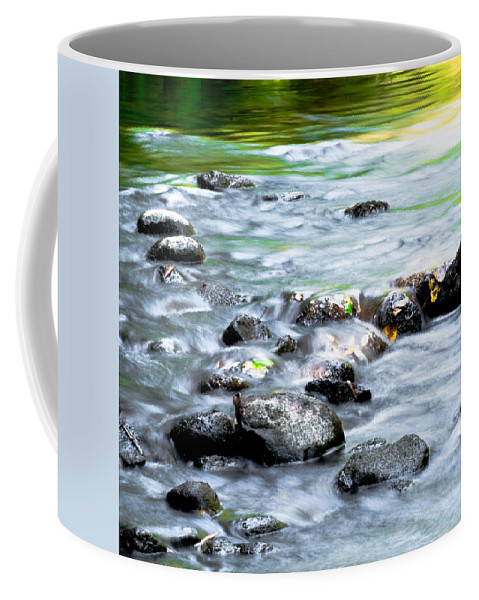 Optical Playground By Mp Ray Coffee Mug featuring the photograph Rolling Brook by Optical Playground By MP Ray