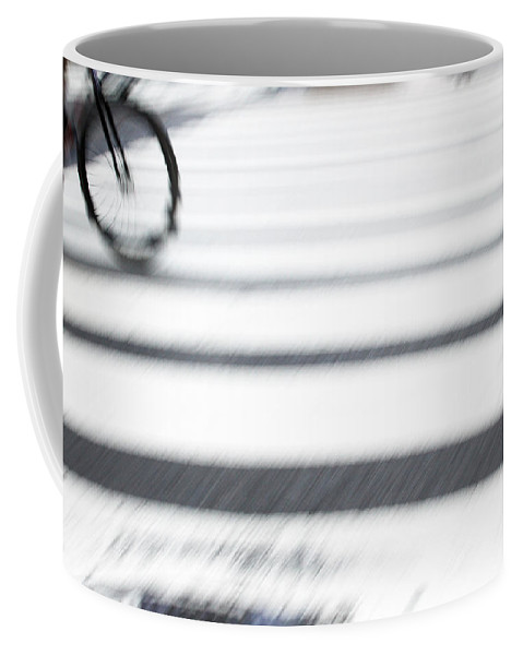 Bicycle Coffee Mug featuring the photograph Rolling by Karol Livote