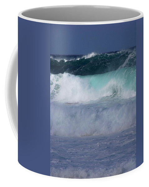 Surfing Coffee Mug featuring the photograph Rolling Thunder by Karen Wiles