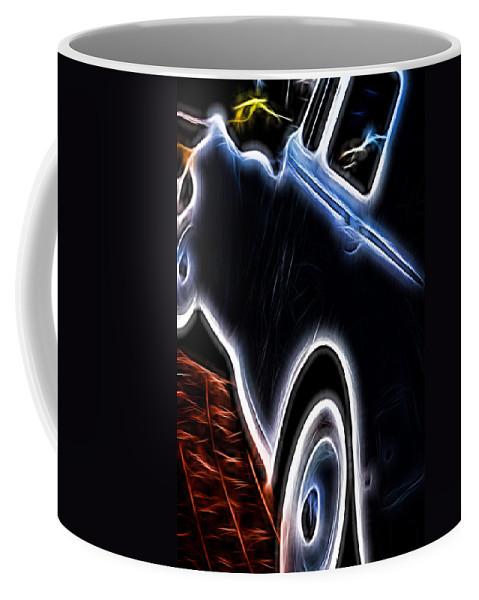 Rolls Royce Coffee Mug featuring the digital art Rolls Royce In Black by Cathy Anderson