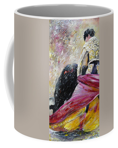 Animals Coffee Mug featuring the painting Romance by Miki De Goodaboom