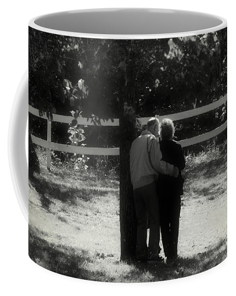 Abstract Coffee Mug featuring the photograph Romance Never Dies by Peggy Franz