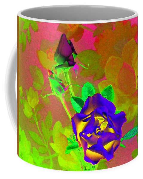 Romancing The Rose Coffee Mug featuring the digital art Romancing The Rose by Will Borden