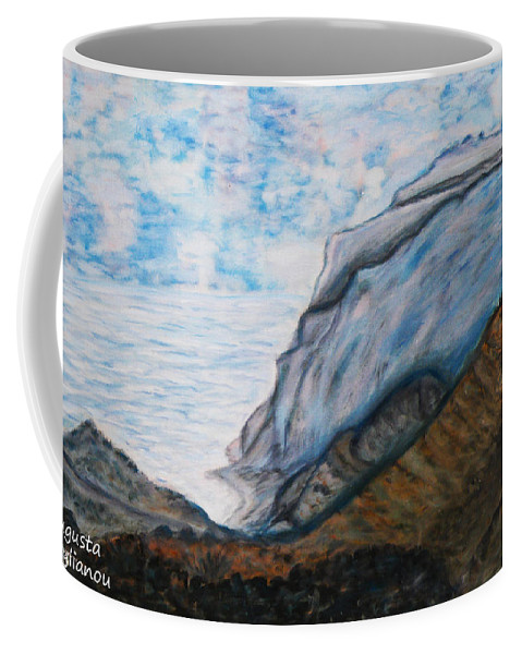 Mountains Coffee Mug featuring the painting Romantic Mountains by Augusta Stylianou