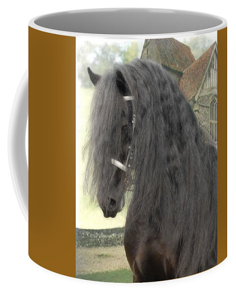 Horses Coffee Mug featuring the photograph Romke by Fran J Scott