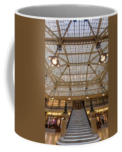Rookery Coffee Mug featuring the photograph Rookery Building Lobby by Steve Gadomski