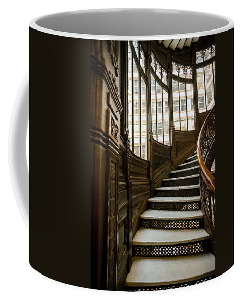 Chicago Coffee Mug featuring the photograph Rookery Building Up The Oriel Staircase by Anthony Doudt