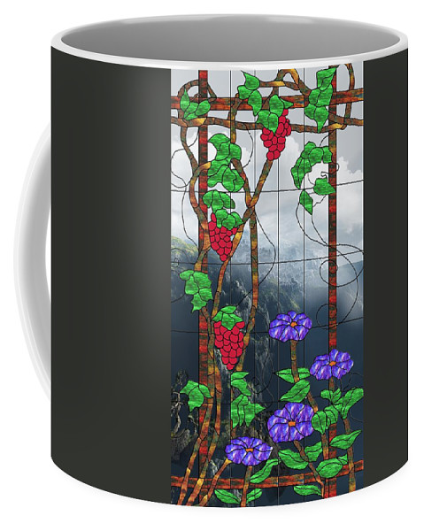 Room With A View Coffee Mug featuring the mixed media Room With A View by Georgiana Romanovna