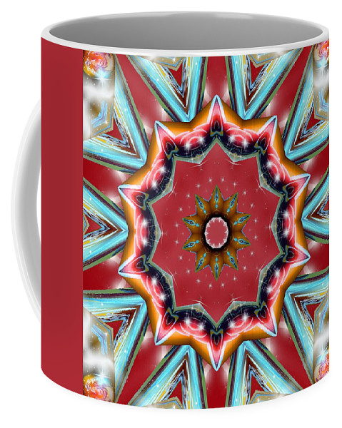 Sacredlife Mandalas Coffee Mug featuring the digital art Root Activation by Derek Gedney