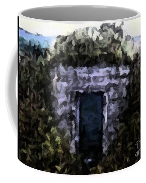 Root Cellar Abstraction Coffee Mug featuring the photograph Root Cellar Abstraction by Barbara Griffin