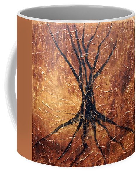 Landscape Coffee Mug featuring the painting Roots by Sergey Bezhinets