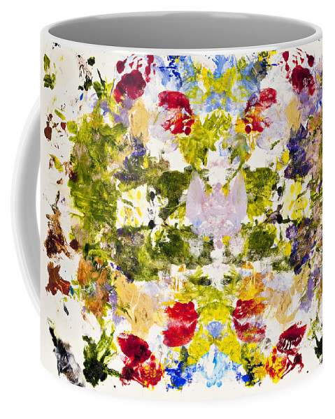 Rorschach Coffee Mug featuring the painting Rorschach Test by Darice Machel McGuire