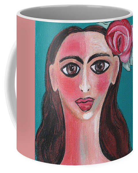 Canvas Coffee Mug featuring the painting Rosa by Sue Wright