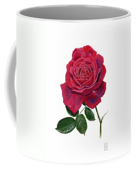 Rose Coffee Mug featuring the painting Rose 1 by Richard Harpum