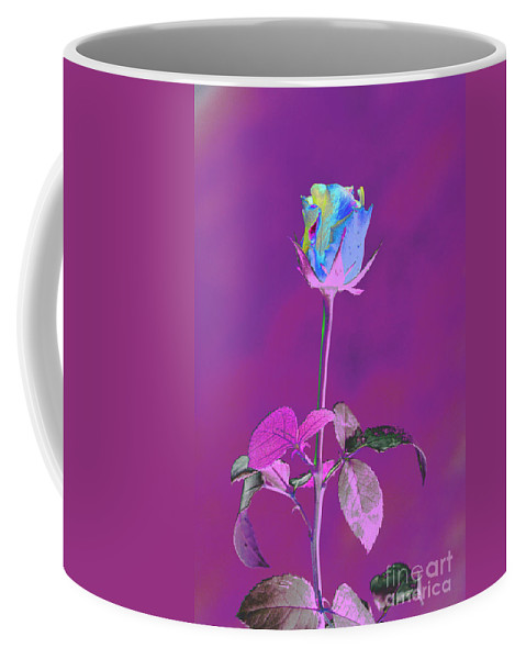 Rose Coffee Mug featuring the digital art Rose Bud by Carol Lynch