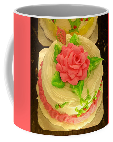 Food Coffee Mug featuring the painting Rose Cakes by Amy Vangsgard
