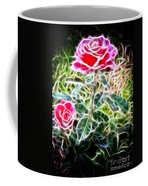 Rose Expressive Brushstrokes Coffee Mug featuring the photograph Rose Expressive Brushstrokes by Barbara Griffin