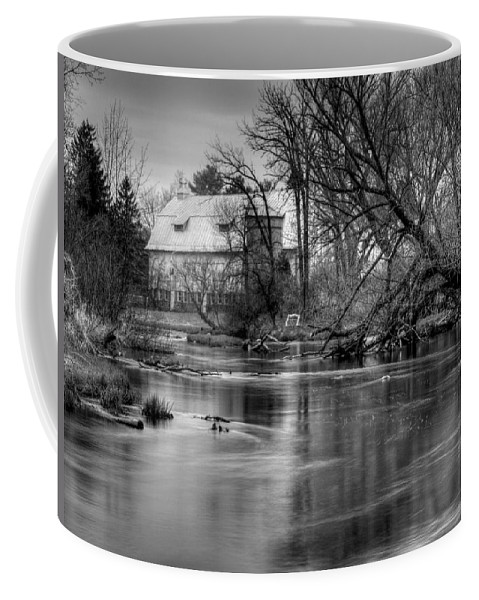 Farm Coffee Mug featuring the photograph Rose Farm Black and White by Thomas Young