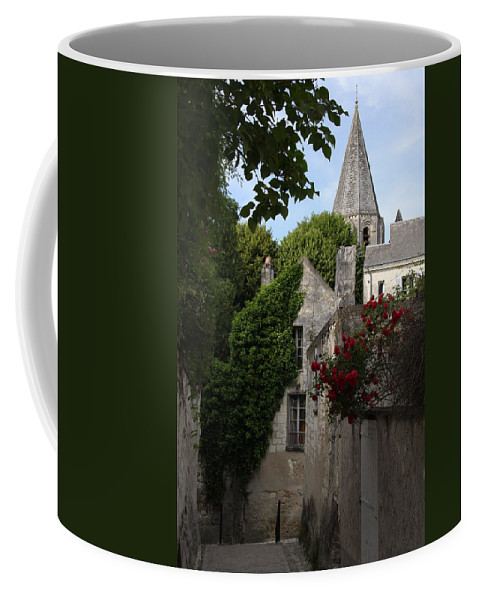 Narrow Street Coffee Mug featuring the photograph Rose Lane In Loches by Christiane Schulze Art And Photography