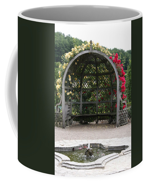 Roses Coffee Mug featuring the photograph Rose Pavilion At Chateau Villandry by Christiane Schulze Art And Photography