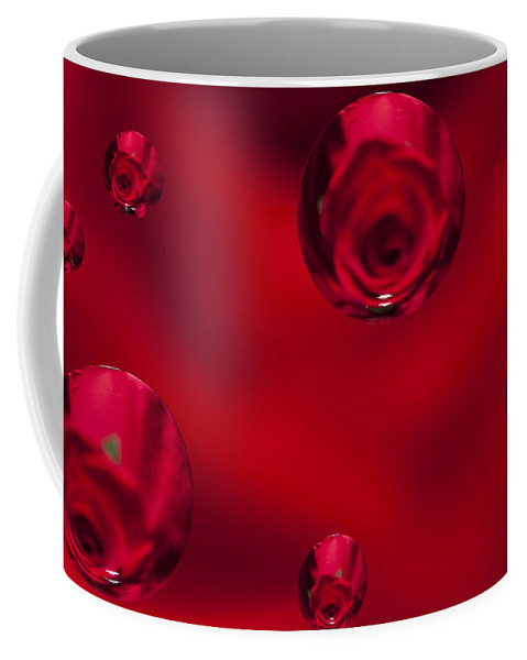 Flower Coffee Mug featuring the photograph Rose Syrup Abstract 1 B by John Brueske