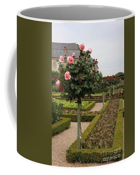 Roses Coffee Mug featuring the photograph Roses And Salad - Chateau Villandry by Christiane Schulze Art And Photography