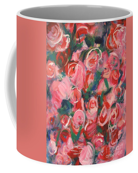 Roses Coffee Mug featuring the painting Roses by Fereshteh Stoecklein