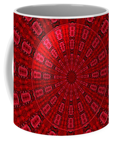 Red Roses Coffee Mug featuring the photograph Roses Kaleidoscope Under Glass 10 by Rose Santuci-Sofranko