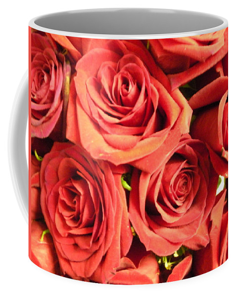 Wall Coffee Mug featuring the photograph Roses On Your Wall by Joseph Baril