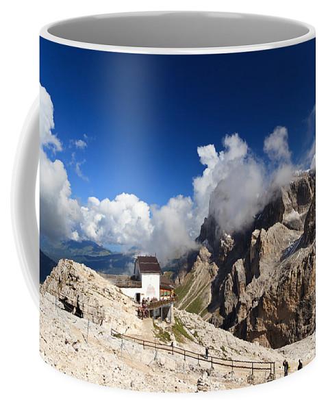 Aerial Coffee Mug featuring the photograph Rosetta Mount by Antonio Scarpi