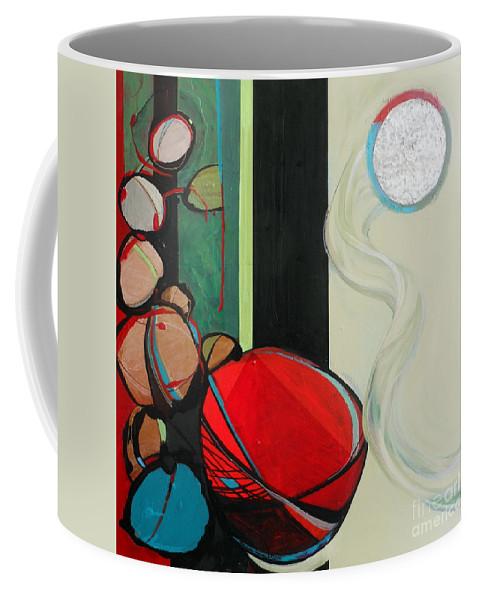 Rosh Hashanah Coffee Mug featuring the painting Rosh Hashanah Akedah by Marlene Burns